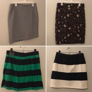 Bundle of 4 Loft and Banana Republic Skirts
